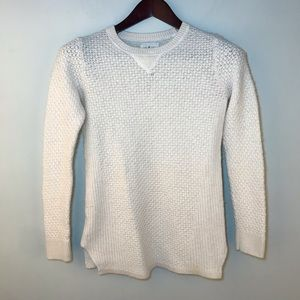Lou & Grey | Wool Blend Ivory Crewneck Sweater Med